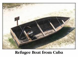 Refugee boat from Cuba