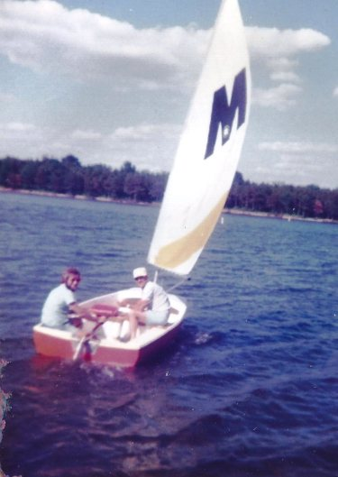 Picture of sailboat on lake